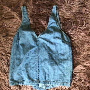 Jean sleeves top